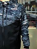 Комплект  Ветровка камуфляж Найк (Nike) + Штаны + Барсетка в подарок. Спортивный костюм, фото 2