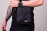 Чёрный Спортивный костюм мужской Найк, Nike черный. Барсетка в Подарок, фото 2