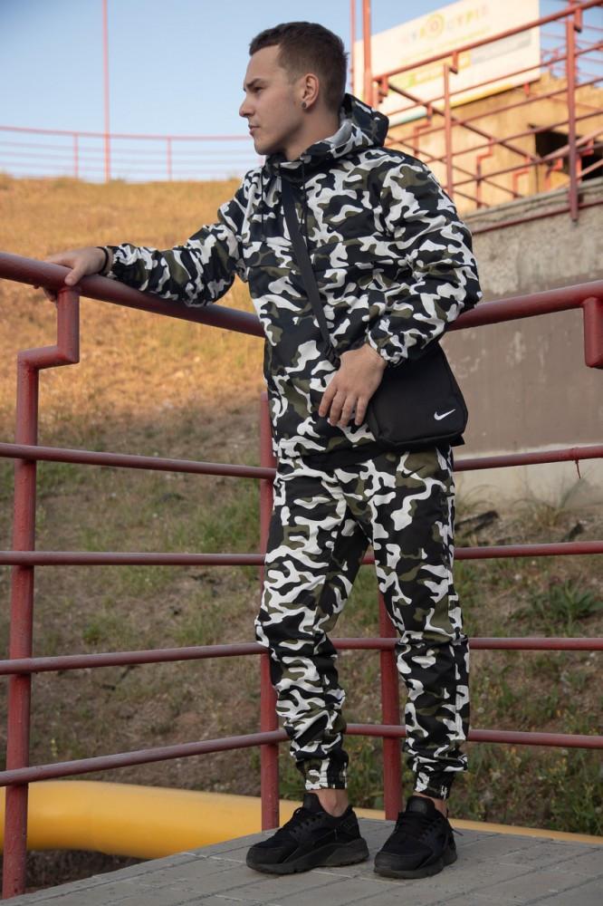 Комплект Ветровка Анорак  Найк (Nike) + Штаны  + Барсетка в Подарок (камуфляж)