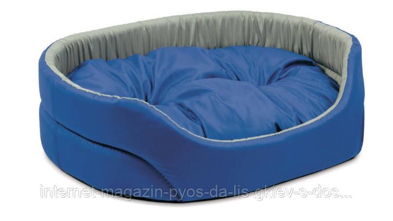 Лежак для кошек и собак Омега 3 серо-синий ТМ Природа 66х50х17см