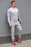 Серый мужской спортивный костюм - свитшот и штаны (весна-осень), фото 3