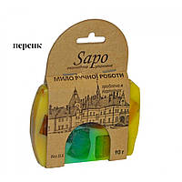 Мило гліциринове натуральне в крафтовій упаковці, 90 г Персик