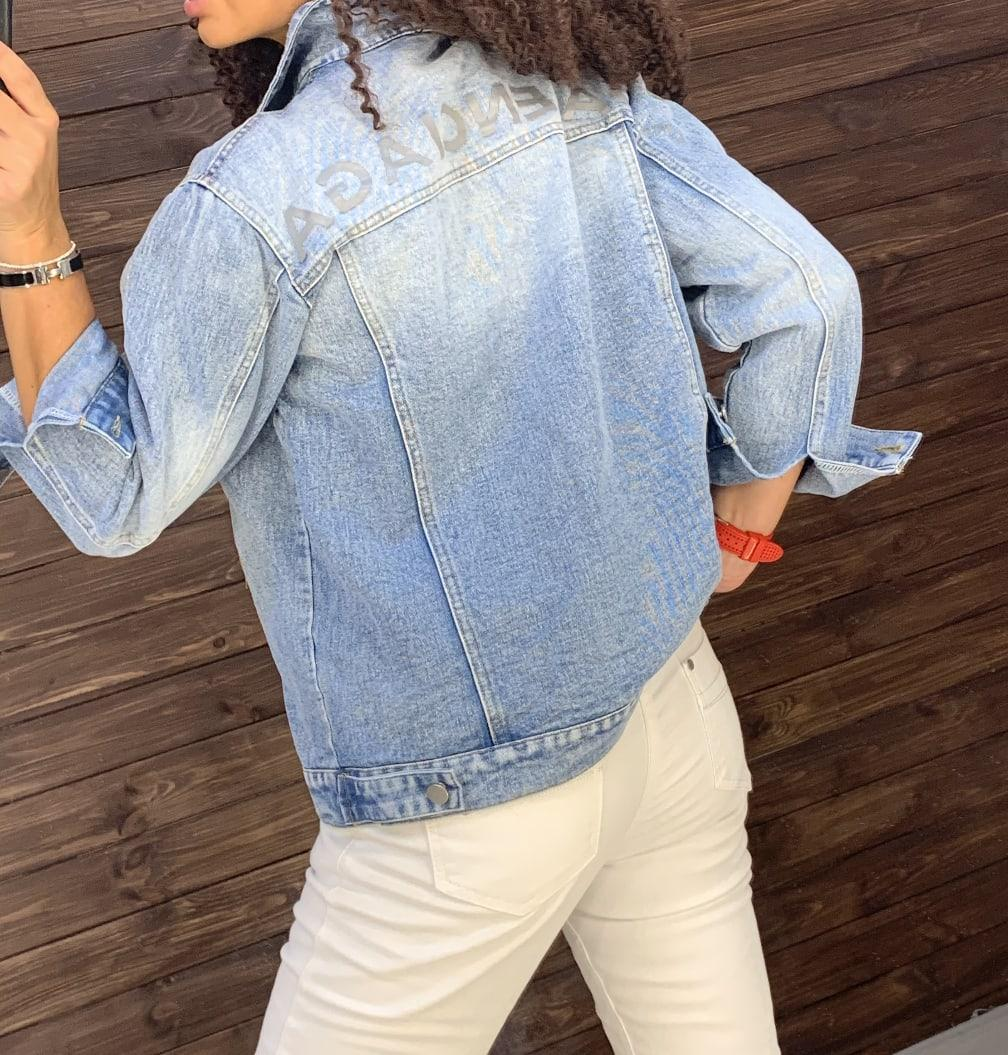 Очень крутая джинсовая куртка BALENCIAGA