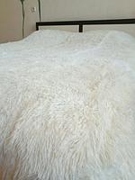 Плед с длинным ворсом на кровать Травка 200х220 см, покрывало мягкое на подарок