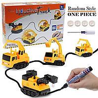 Машинка для треку Inductive Truck (124252) пластик, від батарейок LR44, дитячі іграшки, дитячі машинки