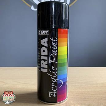 Краска акриловая HB BODY IRIDA, 400 мл Аэрозоль Черный глянец