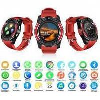 Годинники наручні Smart Watch Phone V8 Black Червоні, Android, 128МБ, камера 1,3 МП, мікрофон