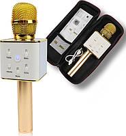 Безпровідний мікрофон для караоке Сoconut Q7 золотистий, Bluetooth / AUX / USB, 2600мАч, мікрофон