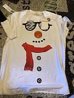 Белая футболка со снеговиком George