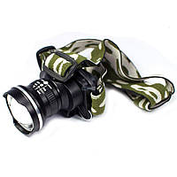 Світлодіодний налобний потужний ліхтар Bailong Police BL T-6907 Zoom, три режими, від акумулятора, Q5 СREE, ліхтарик