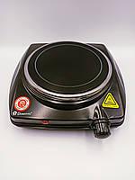 Плита электрическая керамическая настольная 1 конфорочная Domotec MS-5851 Черная