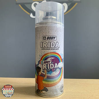 Краска акриловая HB BODY IRIDA, 400 мл Аэрозоль Транспортный белый (RAL 9016)