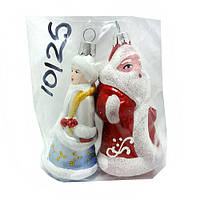 "Елочная игрушка  ""Дед мороз и снегурочка"" 10см"