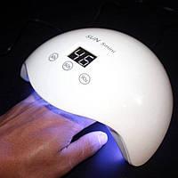 УФ лампа для сушки гель лака SUN 5 mini 24светодиода, таймер от 15 до 60сек, 48Вт, белая, сушилка для ногтей