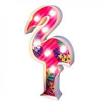 Детский Набор для творчества светильник ночник 4M Подсветка Фламинго, игрушки для девочек от 5 лет