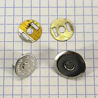 Кнопка магнит 18 мм на усиках никель для сумок t5005 (20 шт.)