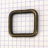 Рамка проволочная 25 мм антик для сумок t4137 (20 шт.), фото 2