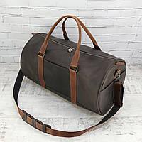 Дорожная сумка Mihey tube коричневая из натуральной кожи crazy horse 1460401, фото 1