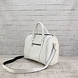 Дорожная сумка louis mini белая из натуральной кожи flotar, фото 2