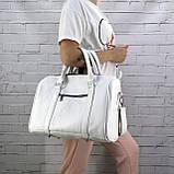 Дорожная сумка louis mini белая из натуральной кожи flotar, фото 5