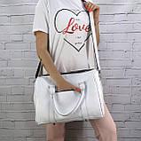 Дорожная сумка louis mini белая из натуральной кожи flotar, фото 9