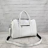 Дорожная сумка louis mini белая из натуральной кожи flotar, фото 10