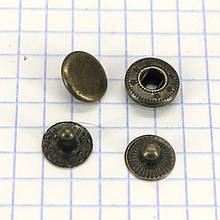 Кнопка альфа 10 мм антик Китай a4203 (360 шт.)