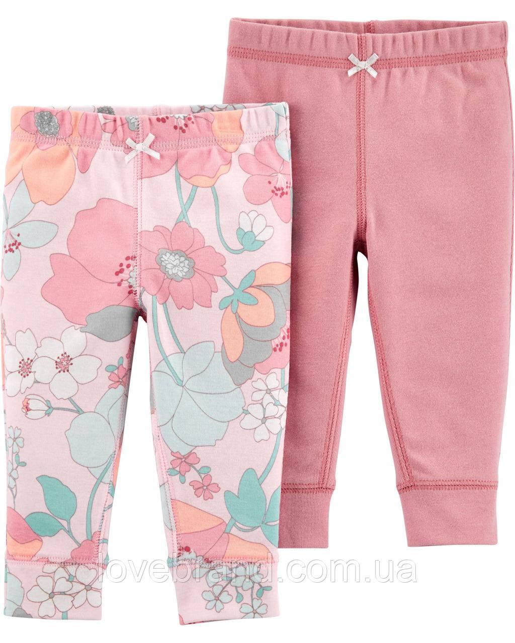"""Легкие штанишки для новорожденной девочки Carter's (ползунки картерс) """"цветы"""""""
