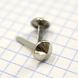 Ніжка для сумки 8 мм нікель a6616 (200 шт.), фото 4