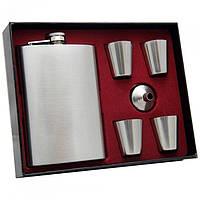 Набір на подарунок хлопцю з флягою і чарками Jack Daniels Jack Daniels № TZ1 обсяг 255мл, чарки, метал, фляги, подарунко