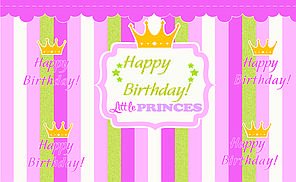 Плакат для праздника Корона Рожевий (89933), 75х120 см