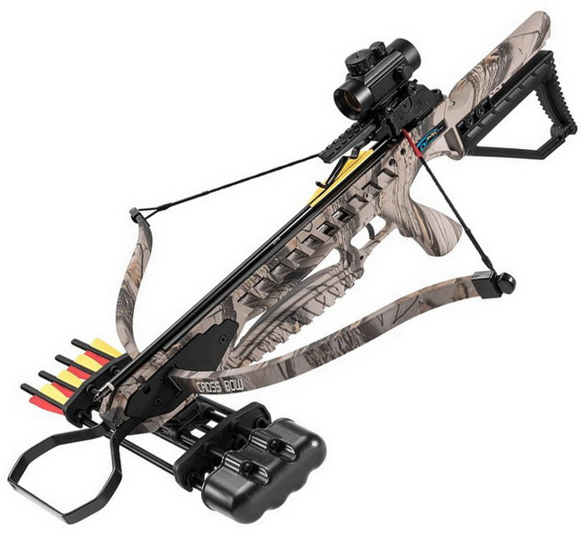 Арбалет винтовочного типа Man Kung XB21 Rip Claw (длина: 775мм, сила натяжения: 18кг), camo, комплект