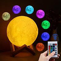 Светильник настольний для ребенка Magic 3D Moon Light № G68 два режима, 3W, USB, 300мАч, светильники, ночник