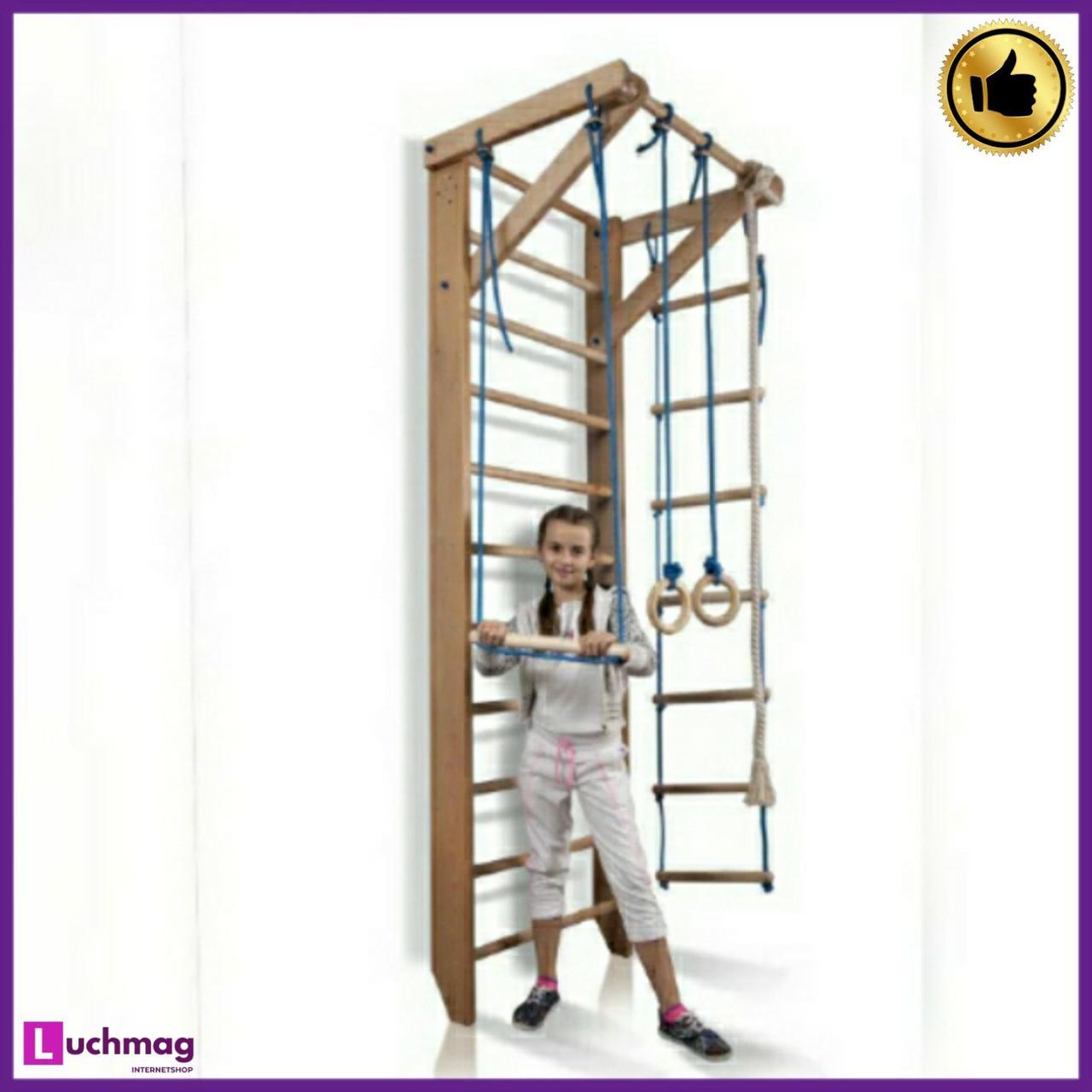 Детский спортивный деревянный уголок «Sport 2-240» ТМ SportBaby для детей от 6 лет