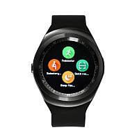Смарт годинники наручні Smart Watch Y1 чорні, SIM / Bluetooth / SMS, Android, крокомір, годинник Y1