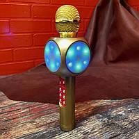 Безпровідний мікрофон для караоке Wster WS1816 золотий, USB / microSD / AUX / FM / Bluetooth, мікрофон, мікрофон караоке