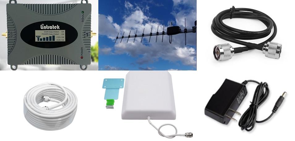 Репитер усилитель Lintratek KW16L GSM, 4G LTE 900 МГц (усиленный комплект)