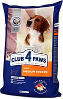 Сухий корм для дорослих собак середніх порід, Клуб 4 лапи
