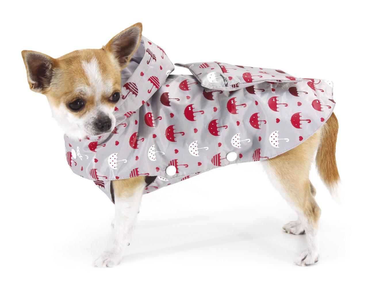 Дождевик для собак Croci GREY UMBRELLAS 20 см