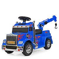 Электромобиль детский Грузовик Super Truck (ZPV118BR-4)   С пультом управления, MP3, USB, опускается крючок