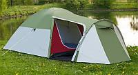 Палатка туристическая Presto Monsun 4 Pro зеленый клеенные швы, 3500 мм