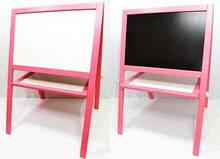 Мольберт большой магнитный, розовый,Игруша Доска 60х40 см, Подставка 100х65 см одна сторона SKL11-221288