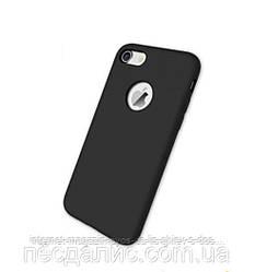 Чехол накладка пластик Mobile Case на iPhone 7 с прорезями черный