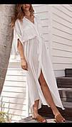 Пляжная рубашка-платье длинное