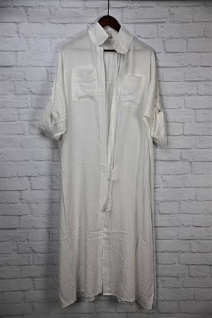 Пляжная рубашка-платье длинное, фото 2