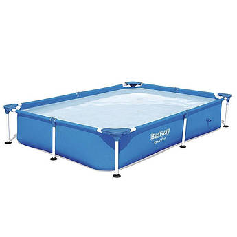 Прямоугольный каркасный бассейн Bestway  Steel Pro Splash Frame Pool, 221х150х43 см (56401BW)