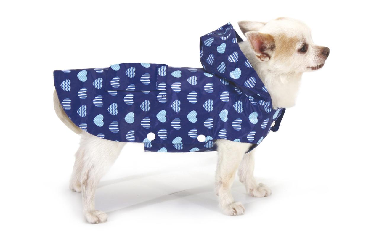 Дождевик для собак Croci BLUE HEARTS 25 см