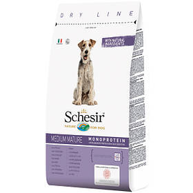 Сухой корм для пожилых собак средних пород Шезир Schesir Dog Medium Mature с курицей 3 кг