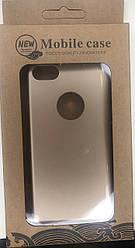 Чехол накладка пластик Mobile Case на iPhone 7 с прорезями gold
