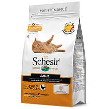 Сухой корм для кошек Шезир Schesir Cat Adult Chicken с курицей 1,5 кг